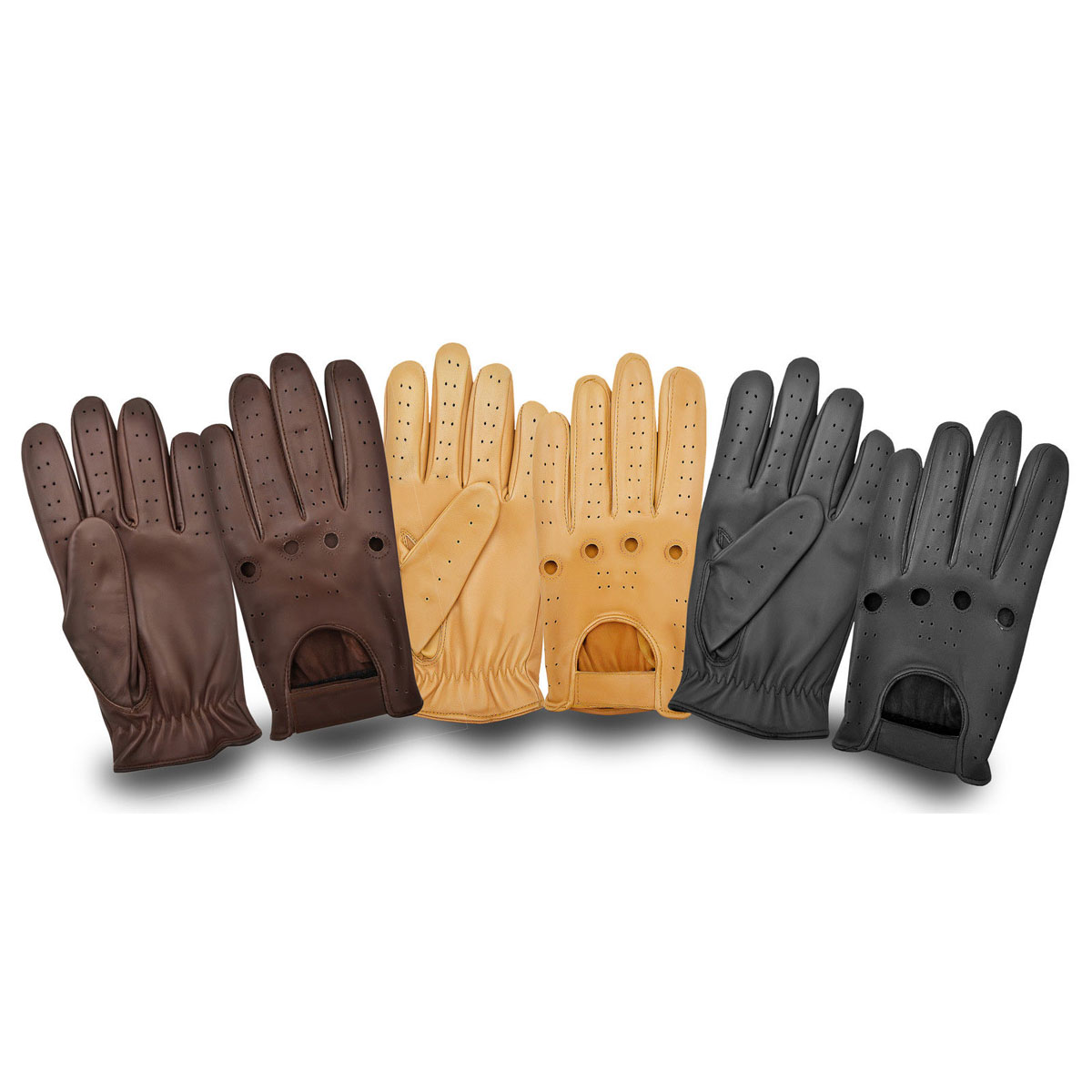 Dam Leather Weight Lifting Gym Gloves Real Leather Women S: RETRO STYLE LAMBSKIN LEATHER DRIVING GLOVES SKIN FIT
